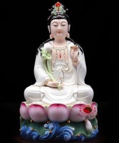 tượng thờ tây phương tam thánh màu trắng 3