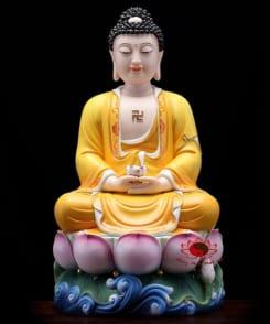 tượng thờ tây phương tam thánh màu vàng 3