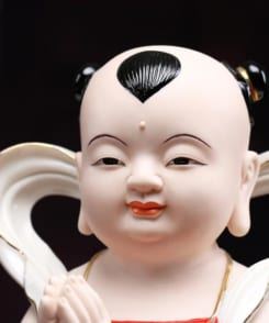 tượng tiên đồng ngọc nữ màu trắng 9
