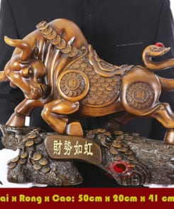 tượng trâu phong thủy đẹp 2