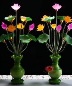 bình hoa sen thờ bằng điện 5