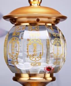 cặp đèn thờ bằng đồng pha lê 5