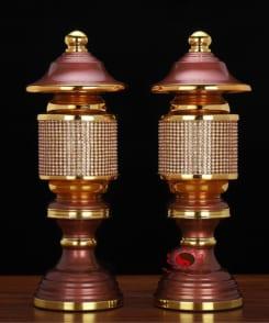 cặp đèn thờ bằng đồng pha lê đẹp 4