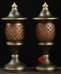 cặp đèn thờ đồng cao cấp 8
