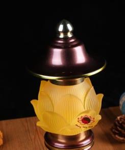 cặp đèn thờ hợp kim đồng 3