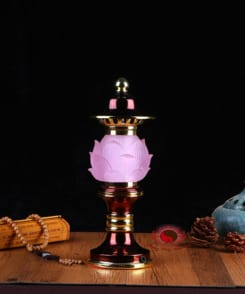 cặp đèn thờ hợp kim đồng 4