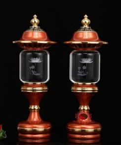 cặp đèn thờ liên hoa sen 5