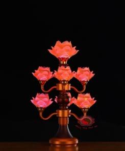 đèn búp sen thờ trước phật 4