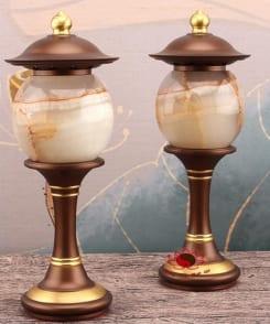 đèn thờ bằng cẩm thạch và đồng nguyên chất 7