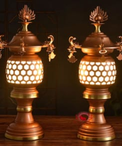 đèn thờ bằng đồng cổ điển 5
