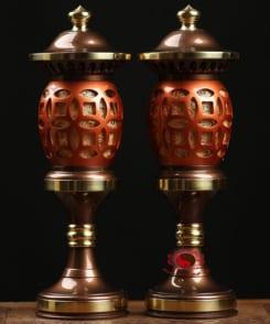 đèn thờ bằng đồng đẹp 7