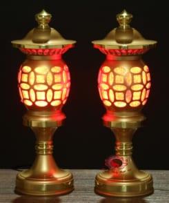 đèn thờ bằng đồng nguyên chất 8