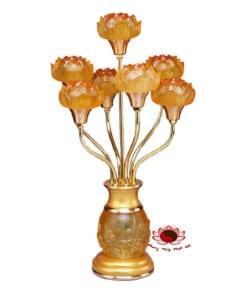 đèn thờ bảy hoa sen điện 5