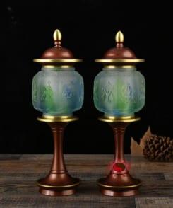 đèn thờ cao cấp bằng đồng nguyên chất 5