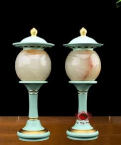 đèn thờ cao cấp phối ngọc cẩm thạch 7