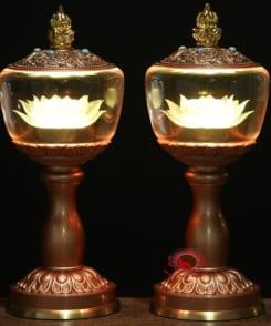 đèn thờ đẹp bằng đồng 9