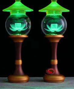 đèn thờ điện hoa sen 6