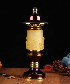 đèn thờ điện hợp kim đồng 4
