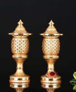 đèn thờ điện trang trí bàn thờ bằng đồng 1