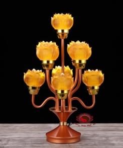đèn thờ hoa sen bằng điện 5