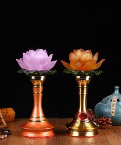 đèn thờ hoa sen chân cao 3