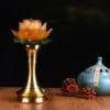 đèn thờ hoa sen chân cao 4
