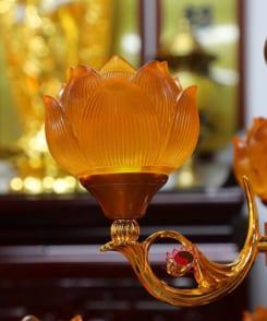 đèn thờ hoa sen cỡ lớn 4