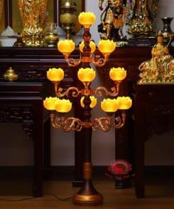 đèn thờ hoa sen cỡ lớn 5