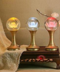 đèn thờ hoa sen giá rẻ 3