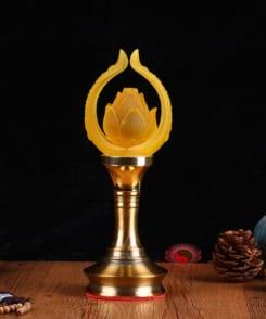 đèn thờ hoa sen lưu ly đẹp 4