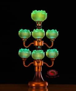 đèn thờ hoa sen trước phật đẹp 4