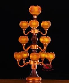 đèn thờ hoa sen trước phật đẹp 5