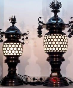 đèn thờ kiểu cổ điển bằng đồng 4