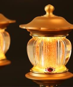 đèn thờ lưu ly đồng nguyên chất 7