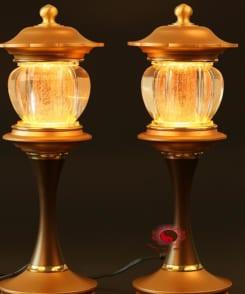 đèn thờ lưu ly đồng nguyên chất 8