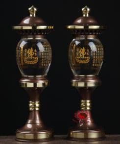 đèn thờ pha lê chân đồng đẹp 7
