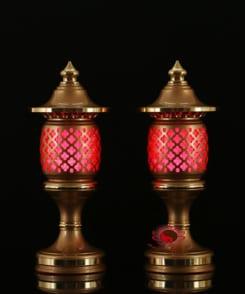 mẫu đèn thờ bằng đồng đẹp 6